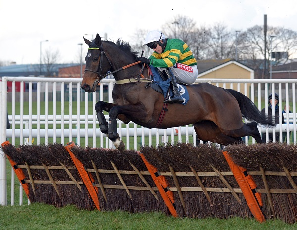 WINTER ESCAPE with B Geraghty wins Novice Hurdle Div 1 at Doncaster 11-2-16.