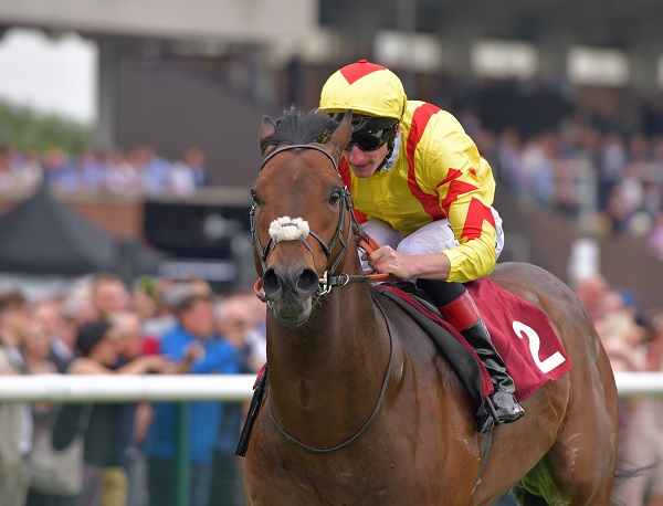 HARRY ANGEL with A Kirby wins Sandy lane Stakes at haydock 27-5-17.